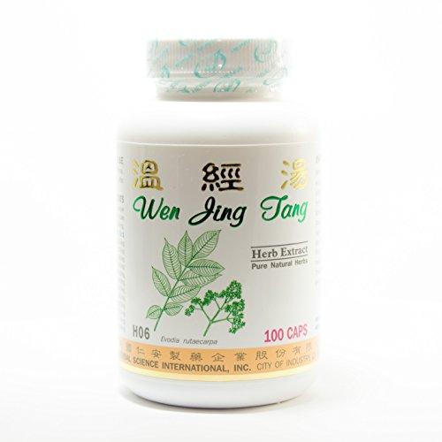 Suplemento de dieta regulador menstrual 500mg 100 cápsulas (Wen Jing Tang) 100% hierbas naturales