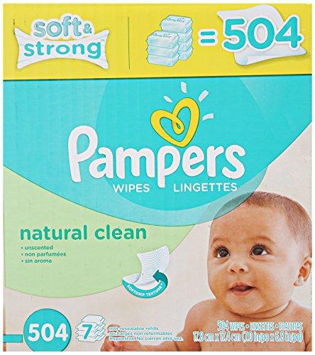 Pampers toallitas limpiamos Natural 7 x Box 504 cuenta