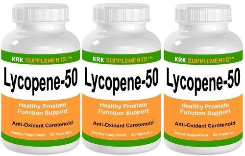 3 botellas de licopeno 50mg 270 capsulas Total KRK suplementos