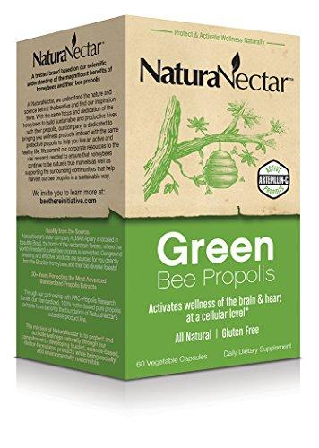 Cápsulas de propóleo NaturaNectar, abeja verde, cuenta 60