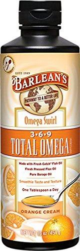 Remolino naranja crema Omega Total de Barlean, 16 onzas