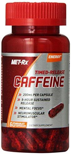 Suplemento de cafeína formulación de MET-Rx, cuenta 60