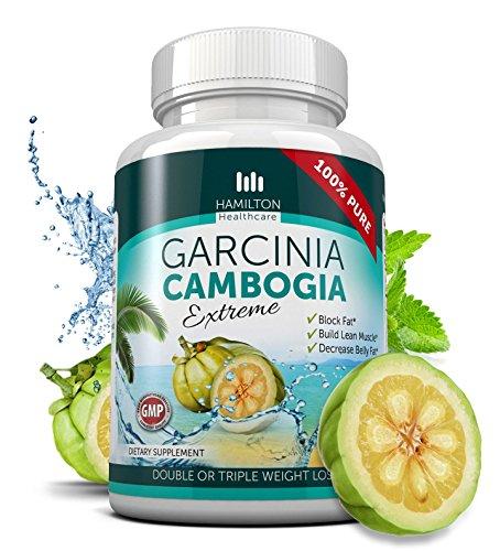 80% HCA Super fuerza Garcinia Cambogia extremo con No actuar rápido de calcio 180 cápsulas. Todos supresor Natural del apetito y peso pérdida suplemento por Hamilton Healthcare hasta 4500 mg por día para máximos resultados
