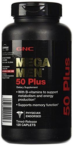 GNC Mega Men 50 Plus tabletas, cuenta 120