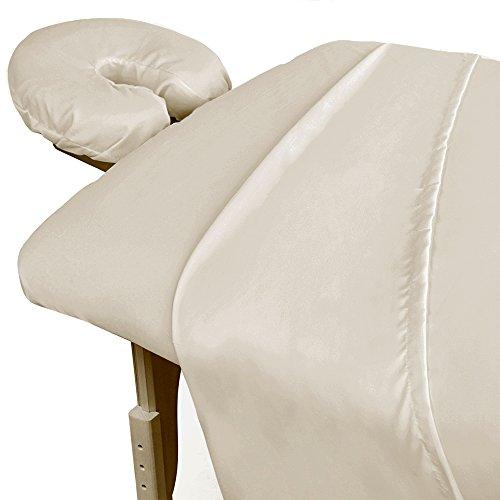 Por Pro 3 piezas sábanas de microfibra masaje Natural Premium