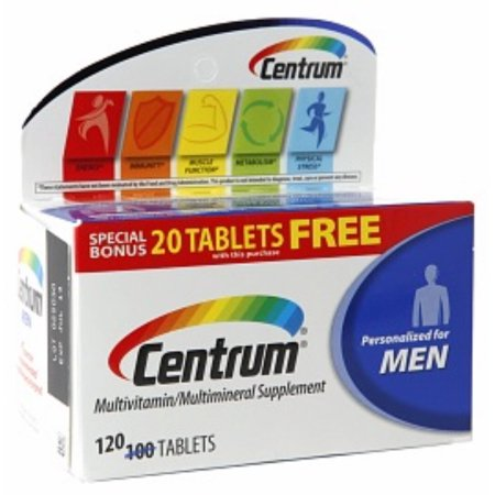 Centrum hombres menores de 50 multivitaminas Tablets 120 ea (Pack de 2)
