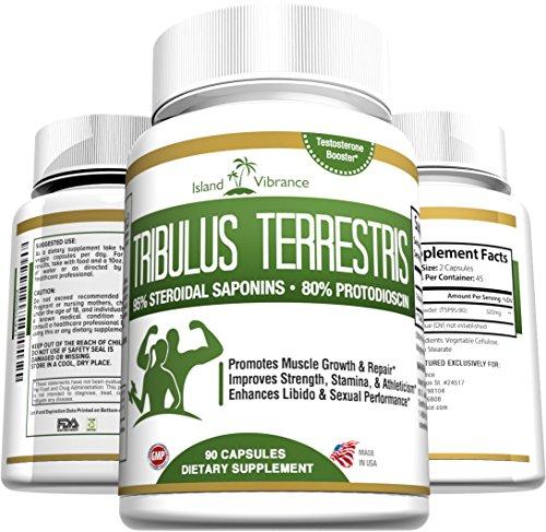 Cápsulas de polvo puro Tribulus Terrestris extracto: Más de 1000mg para una óptima resultados. Para las mujeres y los hombres. Testosterona y potenciador de la Libido. Cuenta 90, suministro completo 45 días.