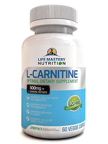 L-carnitina 500mg - aminoácidos esenciales puros - L carnitina dieta suplemento para la recuperación del ejercicio, entrenamiento óptimo rendimiento, transferencia de ácidos grasos saludables y niveles de energía celular - Made in USA