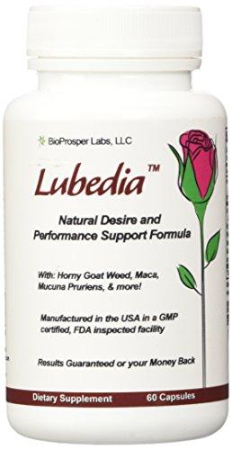 Lubedia 9-ingrediente de la Libido, el rendimiento y la resistencia Support Formula con Horny Goat Weed, Maca, Macuna Pruriens