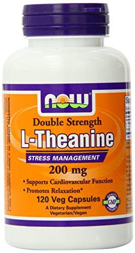 Ahora alimentos L-teanina Veg cápsulas, 200 mg, 120 cuenta