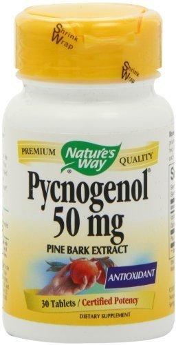 Método natural - extracto de corteza de pino Pycnogenol, 50 mg, 30 comprimidos