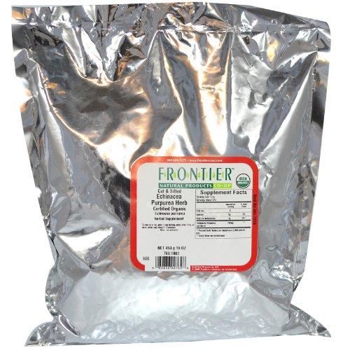 Paquete de 1 lb a granel Echinacea Purpurea hierba, cortar y cernida, orgánicos, frontera