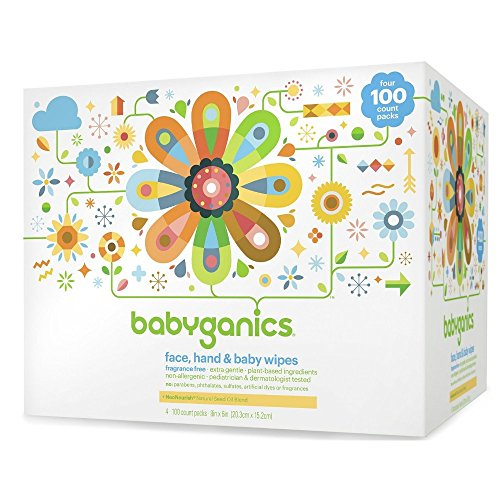 BabyGanics - cara, mano y bebé toallitas fragancia gratis - 400 Wipe(s)