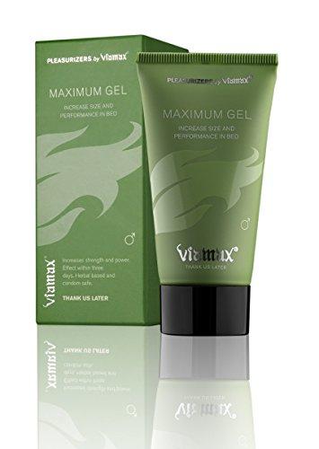 Máximo de ViaMAX Gel - Gel de mejora masculina (efectivamente estimula el flujo sanguíneo, que aumenta la resistencia del pene y crea erecciones más potentes)