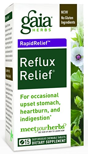 Gaia Herbs RapidRelief Reflux Relief 15Caps