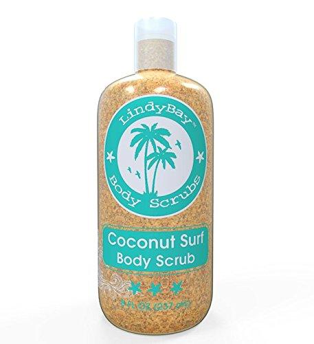 Coco Surf cuerpo exfoliante Scrub-mejor depurador para mujeres y hombres-luz espuma Gel vainilla, granos de Jojoba, esponja, arena, piedra pómez-grasiento limpiador, dejando brillar intensamente naturalmente equilibrada piel suave