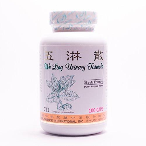 Suplemento dietético fórmula urinaria Wu Lin 500mg 100 cápsulas (Wu Lin San) 100% hierbas naturales