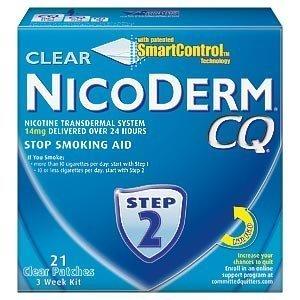 NicoDerm CQ paso 2 - 3 semanas Kit - nicotina claro 21 parches