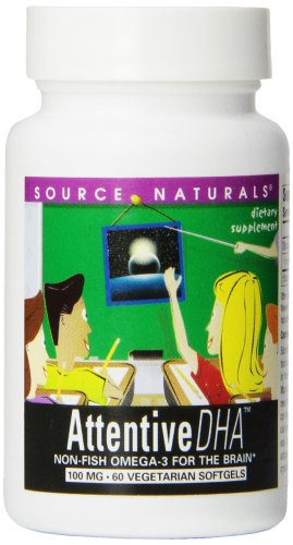 Source Naturals atento DHA, 100mg, 60 cápsulas