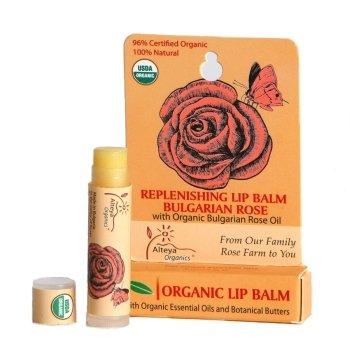 Orgánico labio bálsamo - con Rose Oil - USDA certificado orgánico