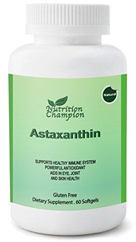 Fuerza Extra, antioxidante astaxantina 10 mg x 60 cápsulas: Supernutrient; Apoya el sistema inmune, piel sana, ojos, cerebro, articulaciones, corazón; Recuperación del ejercicio de SIDA; Protección solar interior; Anti-aging
