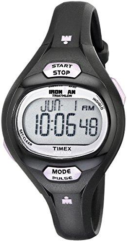 Timex T5K187 Ironman pulso calculadora negro púrpura resina correa Watch de Women