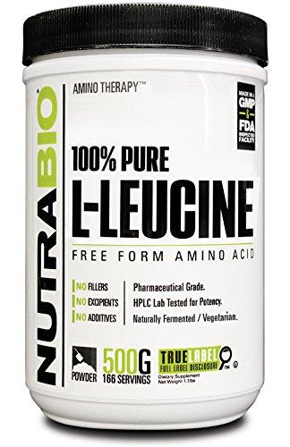 NutraBio 100% puro L-leucina polvo - 500 gramos