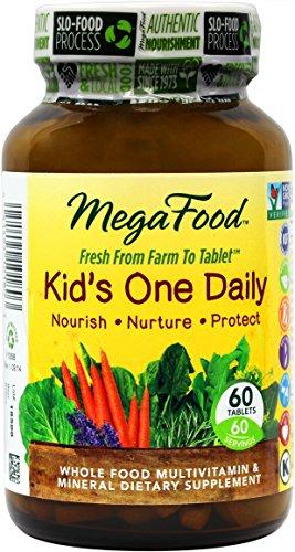 MegaFood - uno cabrito diario, apoya sano crecimiento y desarrollo, 60 comprimidos (envasado de alta calidad)
