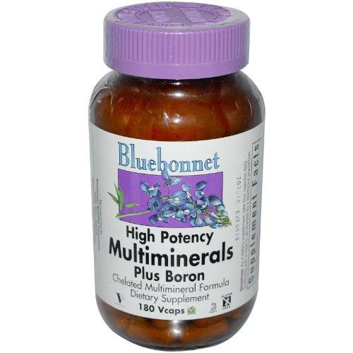 BlueBonnet Multi minerales Plus cápsulas vegetarianas de boro, cuenta 180