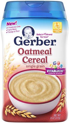 Los alimentos Gerber 1 bebé cereales - avena - 8 oz