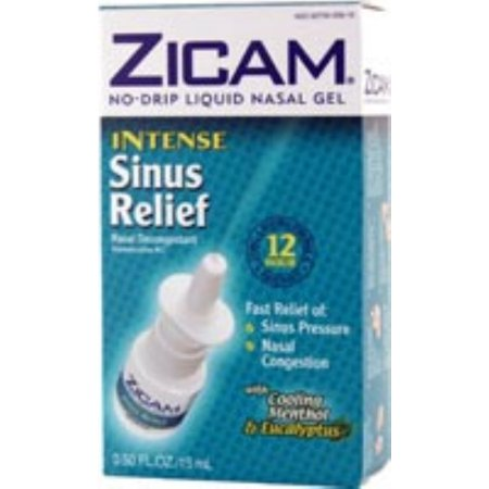 Zicam Intense Relief Sinus Liquid Nasal Gel 050 oz (Pack de 2)