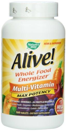 Manera de la naturaleza viva! Max potencia multi-vitaminas, 180 comprimidos