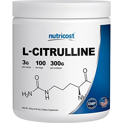 Nutricost L-citrulina polvo (300 gramos) como el malato de L-citrulina (2:1)