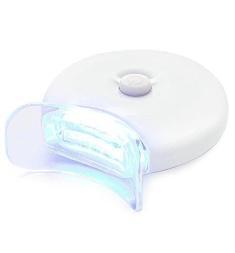 AuraGlow dientes que blanquean el acelerador luz, 5 x más potente luz LED azul, blanquean los dientes más rápido