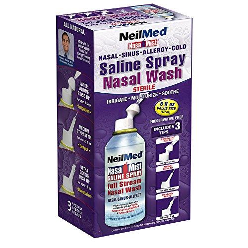 Neil Med Nasa niebla Multi propósito salina Spray todos en uno, 6,0 onzas unidad