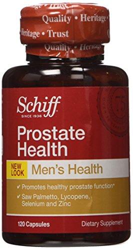 Fórmula de la salud de la próstata Schiff - Saw Palmetto, licopeno y selenio, 120 cápsulas