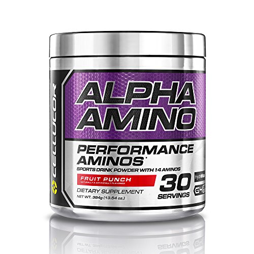 Cellucor alfa aminoácidos suplemento BCAA, Fruit Punch, 30 porciones, oz 13,54