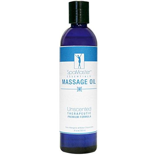 Aceite de masaje de grado Superior de masaje Master, sin perfume (8,5 onzas)
