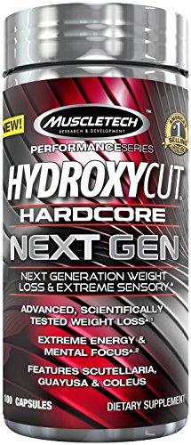 MuscleTech Hydroxycut Hardcore siguiente Gen suplemento 100 Count (paquete de 2)