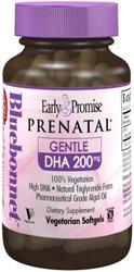 Bluebonnet temprana promesa Prenatal DHA suave 200 mg cápsulas vegetales, cuenta 30