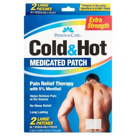 Personal Care fría y caliente de alivio del dolor tratamiento con parches 2 ct