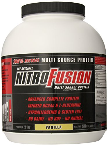 Planta fusión Nitro fusión suplemento, vainilla, 5 libras