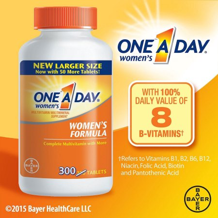 One A Day ® Salud de la Mujer Fórmula de multivitaminas - multiminerales suplementos tablilla 300 Botella ct