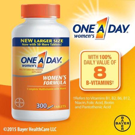 One A Day ® Salud de la Mujer Fórmula de multivitaminas - multiminerales suplementos tablilla 300 Botella ct