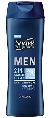 Suave Professionals hombres 2 en 1 Shampoo + acondicionador, clásico limpio Anti caspa onzas 12,6