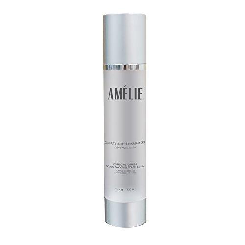 Amélie celulitis crema formulada con ingredientes probados contra la celulitis: Antioxidantes, Retinol, cafeína y orgánicos ingredientes botánicos. Esculpe, alisa y tensa la piel. Dermatólogo recomendado.