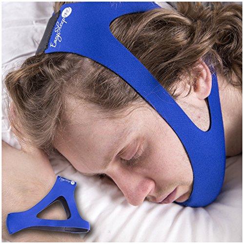 EasySleep Pro azul ajustable Stop ronquidos la correa de barbilla
