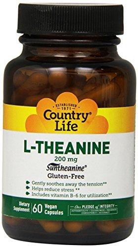 País vida L-teanina, 200 mg, 60-Conde