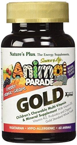 Natur de multi vitaminas y minerales sabores surtidos SOL Animal desfile oro-infantil