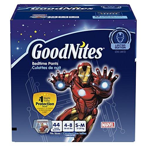 GoodNites dormir pantalones para niños, pequeñas y medianas, Conde 44